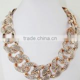 Hot Celebrity Women Fashion Jewelry Chunky Acrylic Thick Chain Necklace