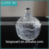 LX-T023 antique pressed crystal glass sugar bowl with lid                                                                         Quality Choice