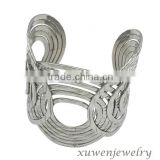 wide polished stainless steel latest trend bangles