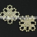 Fashional Shank Square Golden Rhinestone Button for apparel RNK191J
