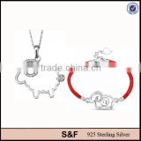 2015 Sheep shape jewelry 925 sterling silver italian costume jewelry