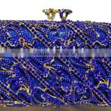 CB0132-(5-7) royal blue red and silver purse handbags fashion design Party clutch crystal evening clutch purse