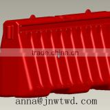 Plastic hollow blow mould for hollow seat , lid , roadbarriers , tool kit