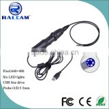5.5mm camera usb borescope for surveying pipe and equipments