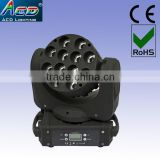 sharpy moving head beam light, 12*4in1 RGBW 10w led beam moving head light, led stage moving head light