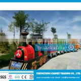 Shopping mall trackless train/ amusement park electric battery trackless train ride for sale