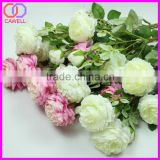 "3 heads 28"" long 8cm diameter silk artificial rose flower wholesale"