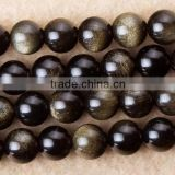 10mm natural golden obsidian loose gemstone beads for sale