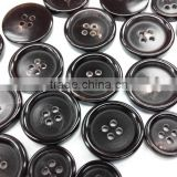 Hron Button/ buffalo horn black button for suit garment & jeans accessories bulk supplier
