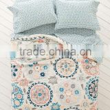 100% cotton bed linen flower printed branded bed sheet