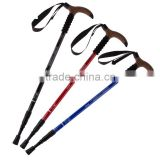 Walking stick trekking pole T Bar handle ultra-light walking cane aluminum antishock crutch rubber ski equipment steel