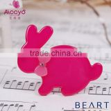 Cute animal design bright color crystal stone decorative hair pins for kids