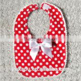 Hot sale lovely cotton fancy baby bibs for baby