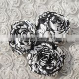 High quality 6cm decorative design handmade rose satin silk flowers for clothes dresses accessory alibaba express