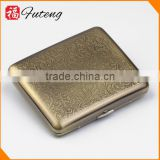 Bronze Wire Drawing 20pcs Cigarette Case Old Metal holder Smokers Tobacco Box 2016