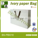 Special paper bag design for clothes packaging/gift packaging bag with black cotton handle