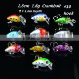 In Stock 2.6cm 1.6g mini hard fishing lure crank bait