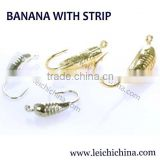 Japan hook different weight wholesale banana with strip tungsten ice fishing jigs