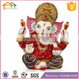 Factory Custom made best home decoration gift polyresin resin colourful ganesh statue