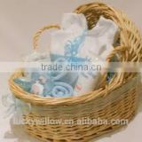 Antique wicker new baby gift basket