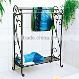 metal standing towel racks