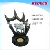 Deer antler horn animal candle holder craft for sale