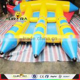 High quality water sport 0.9mmPVC inflatable flying fish tube towable for sale