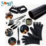 Barbecue Tools Set - Non-Stick Grill Mats - BBQ Brush - Tongs - Meat Claws - Silicone Heat Resistant Grilling Gloves