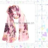 2011 fashionable silk painting scarf