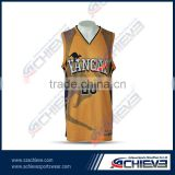 OEM Service basketball jersey design 2016 new style wholesale achieve basketball sportswear