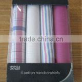 plain white cotton handkerchiefs to edge