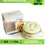 500ml L Health Safety Double Ears Baby Feeding Warmer Round Plastic Bowl With Lid/Baby Food Warmer Bowl
