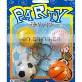 Plastic Sports Ball Assorted W/Key Chain