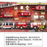 Plastic Fire Vehicle Set Toy