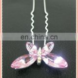 Wholesale pink butterfly hair pin