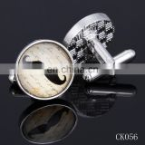 New product 2015 fashion luxury mustache cufflinks factory china