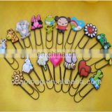 2d/3d cartoon characters custom made rubber book marks/soft pvc bookmark for hot sales
