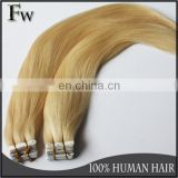 Faceworld hair made in china single side tape hair extensions