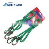High Strength Green Bungee Cord With Steel Hooks Package