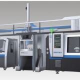 CNC machine with slant bed
