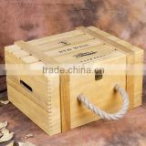 Custom handmade wooden gift wine box 6 bottle packaging box for wine                                                                         Quality Choice