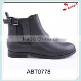 Custom made woman decoration buckle side zipper up bell boots with elastic band