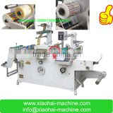 2016 HAS VIDEO IML Sticker Label die cut flat bed machine with Punching, hot-stamping ,laminating