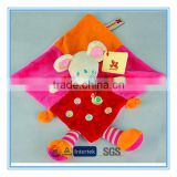 Baby cute plush blanket safety toy