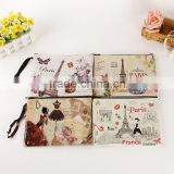 Custom travel cosmetic makeup bag canvas custom printing wholesale designer cosmetic bags