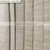 100% Polyester faxu linen stripe window curtain fabric