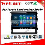 Wecaro WC-TL1067 10.2 inch android 4.4/5.1 car dvd player for toyota land cruiser prado 2016 + Wifi 3G GPS Radio RDS                                                                         Quality Choice
