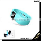 Water-proof sleep monitor anti lost vibrating alarm pedometer bluetooth tw64 smart bracelet