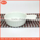 ceramic butter dish porcelain seasoning oil juice or soy sauce dish and microwave or oven round cake baking dish with handle