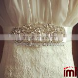 Luxury Glass Rhinestones applique Ribbon Wedding Belt Sash for bride Handmade